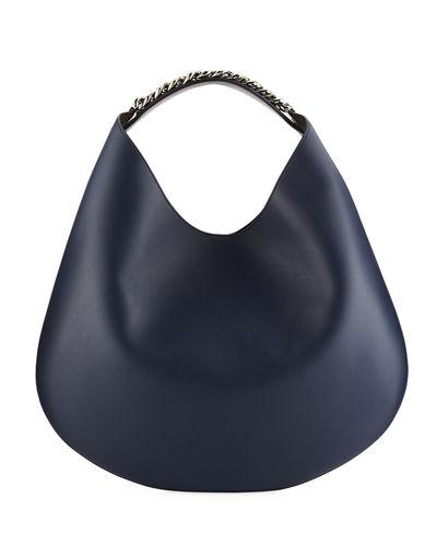 Givenchy Infinity Medium Leather Hobo Bag In Dark Blue