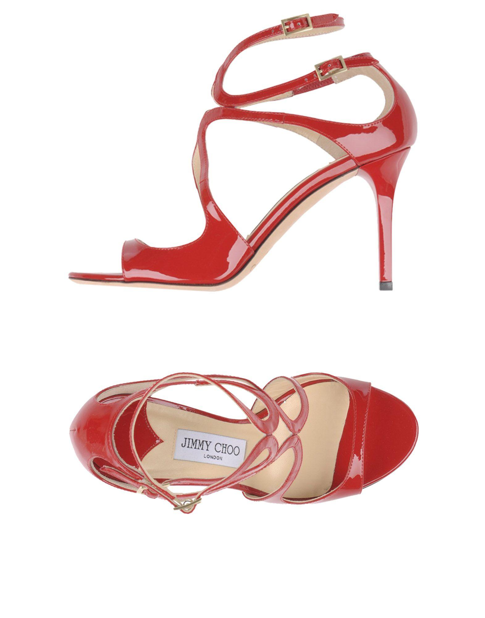 4ee19fc97d1 Jimmy Choo Lance Red Patent Leather Strappy Sandals
