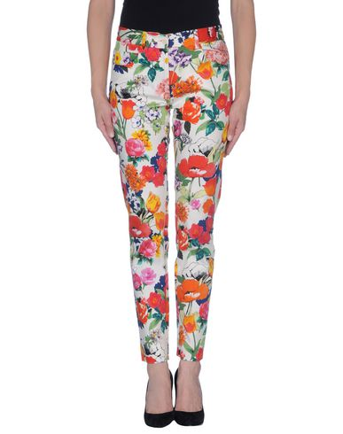 Moschino Floral Print Trouser In White