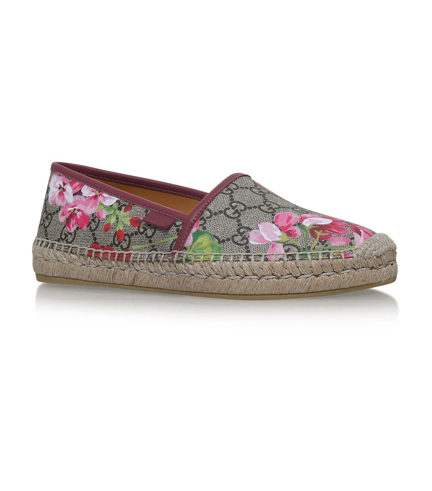 585c067fd72 Gucci Gg Blooms Supreme Espadrille Flats In Pink