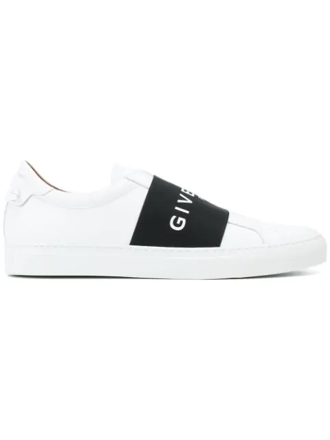Givenchy Urban Street Leather Sneakers With Elasticated Insert And Logo In 116 - White/black
