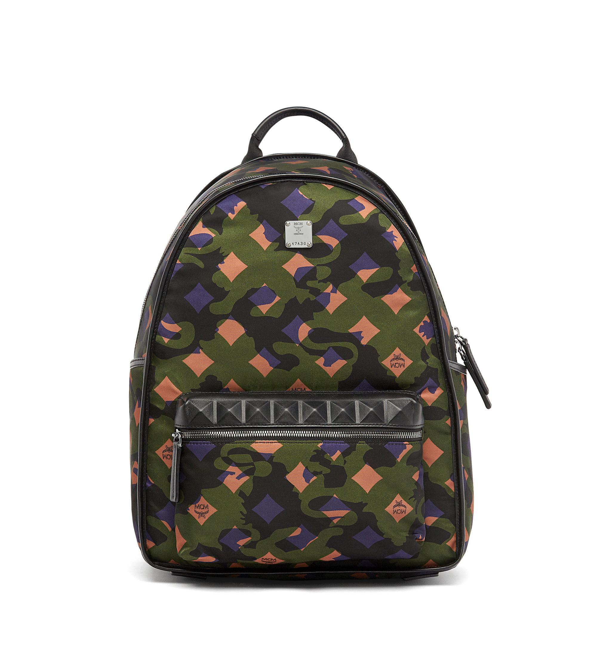 7cb8e787fbfa0 Mcm Dieter Munich Lion Camo Canvas Backpack
