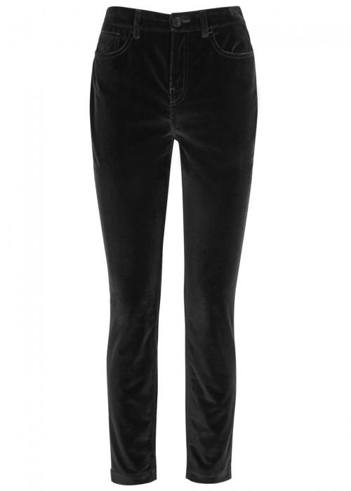 Dolce & Gabbana Black Straight-leg Velvet Trousers