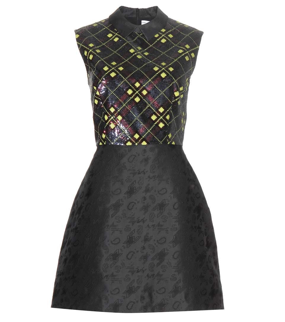 Mary Katrantzou Sequin-embellished Jacquard Dress In Black