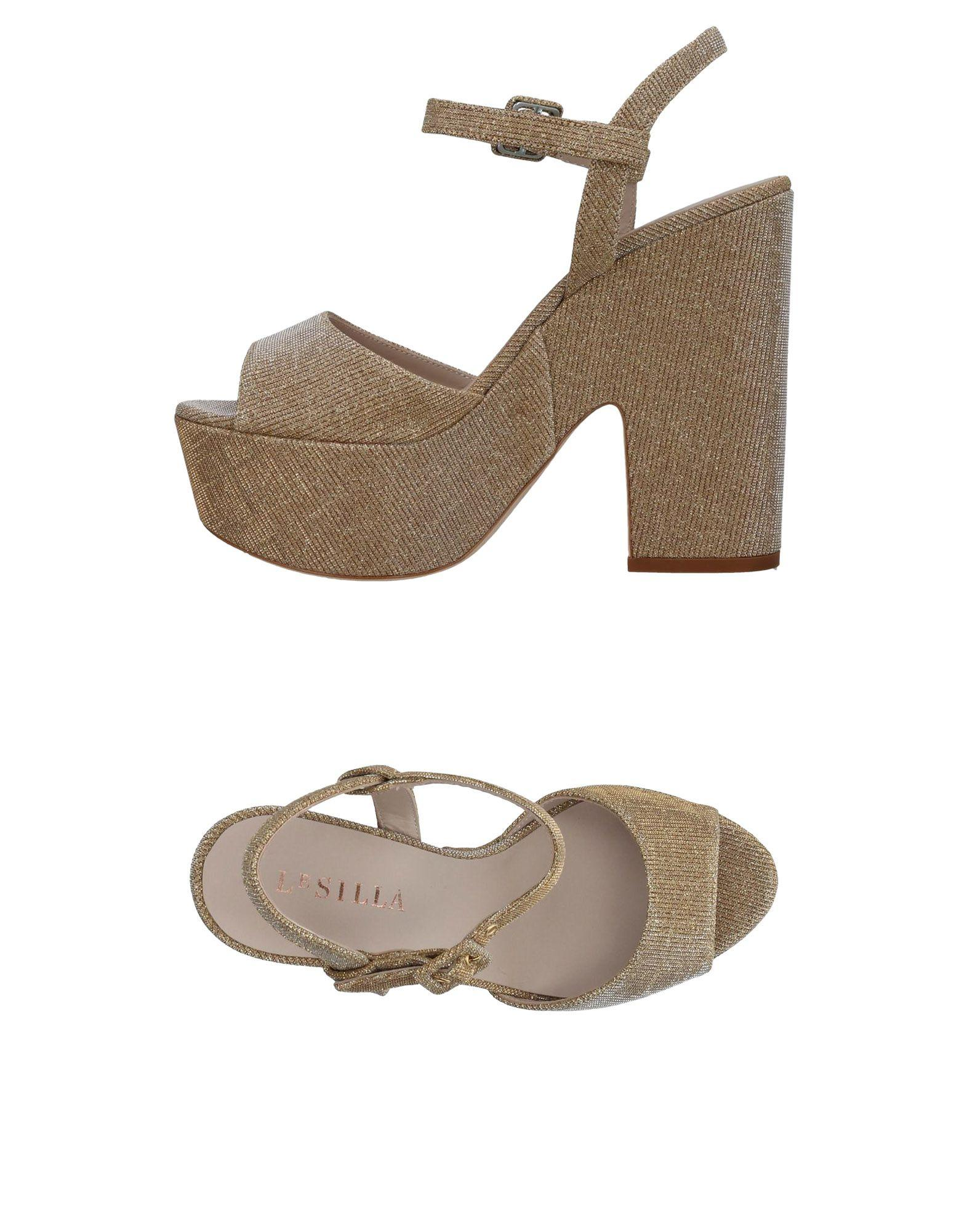 Le Silla Sandals In Gold