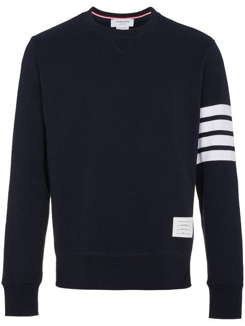 Thom Browne Oversized Striped Loopback Cotton-jersey Sweatshirt In Blue