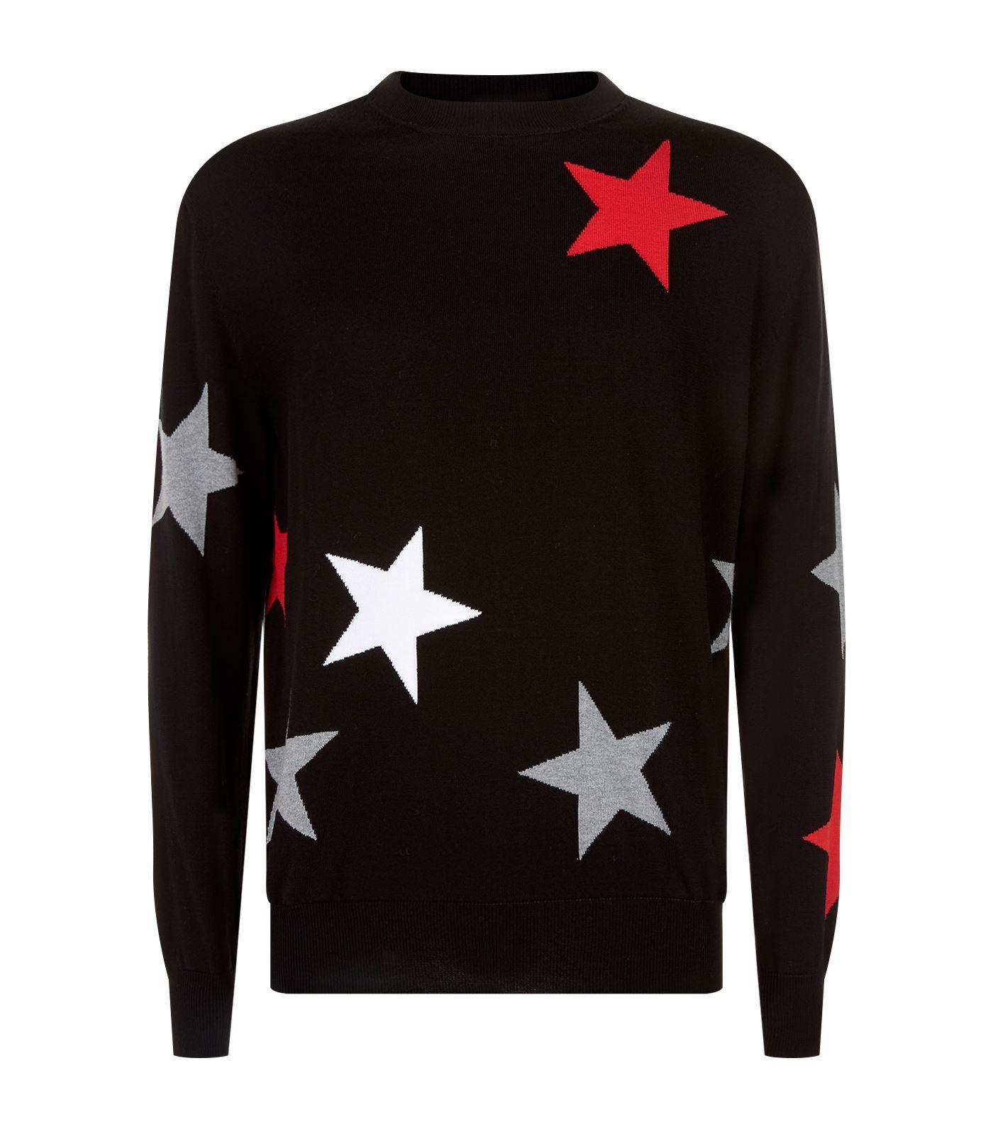 e63076be09524 Givenchy Star Cutout   Intarsia Wool Crewneck Sweater