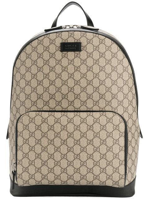 Gucci Gg Supreme Monogrammed Backpack In Beige