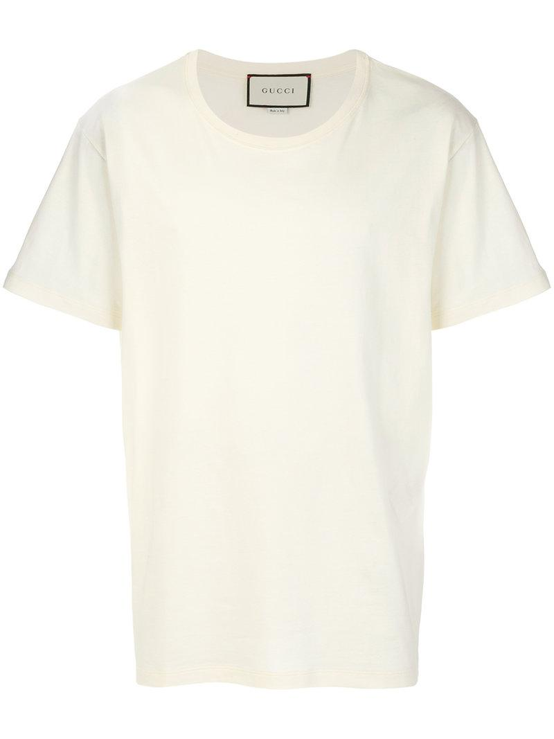 434108c8 Gucci Oversized Snake-Embroidered Cotton And Linen-Blend T-Shirt In 7561  White