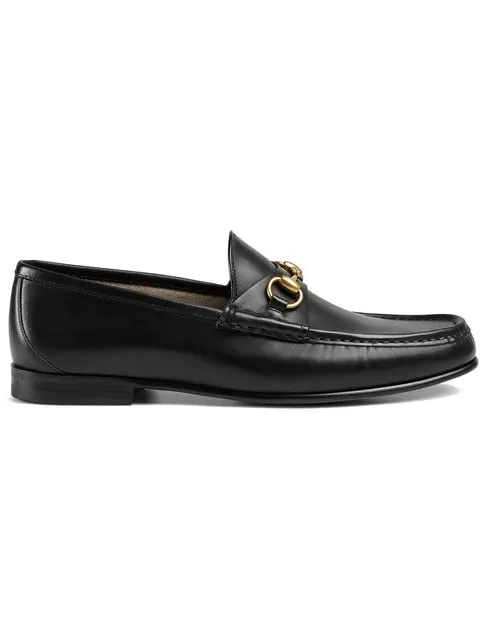 Gucci Black 1953 Horesbit Leather Loafers