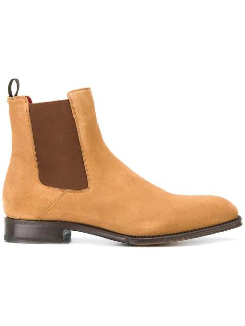 Alexander Mcqueen Goodyear Suede Chelsea Boots In 2520tan