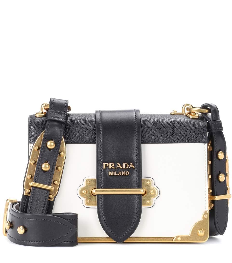 b34416a1e582 Prada Cahier Leather Shoulder Bag