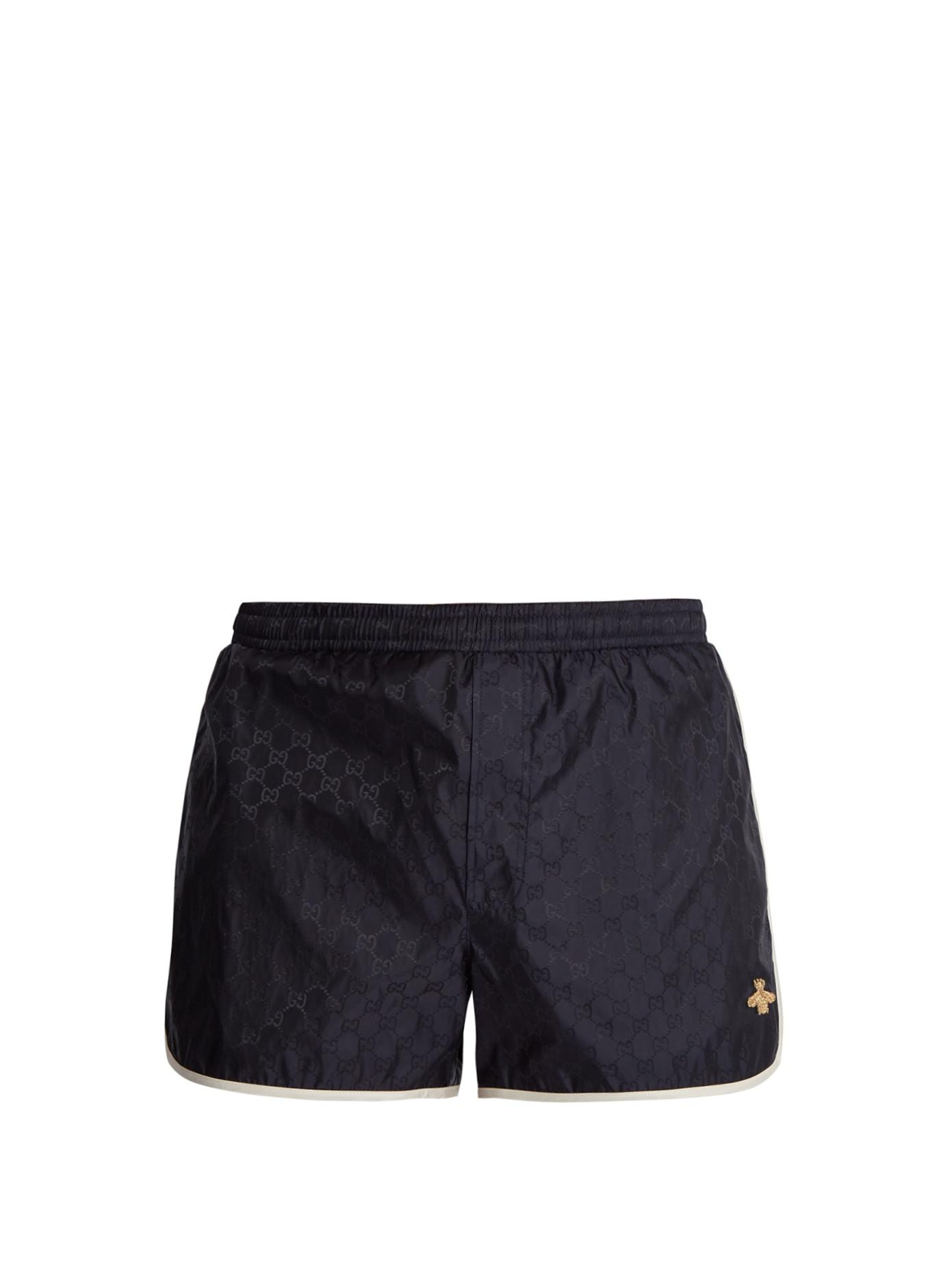 f3815424d6 Gucci Gg Nylon Swim Short Trunks In Blue | ModeSens