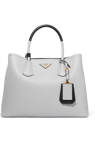 8ea9ac3aca6e Prada Medium Saffiano Greca Paradigm Tote Bag