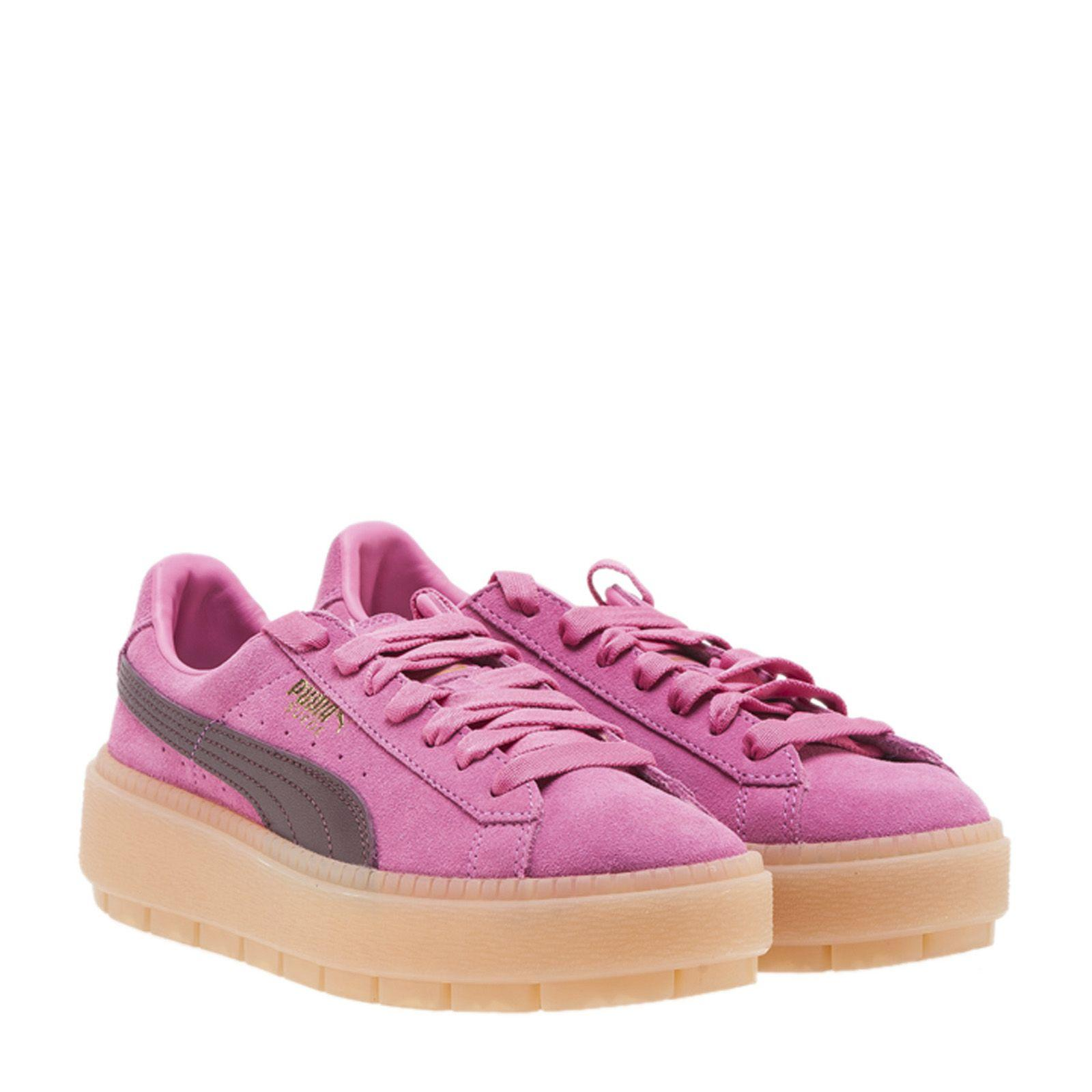b2a9f3ffe29 Puma Women s Suede Platform Rugged Casual Sneakers From Finish Line In Pink