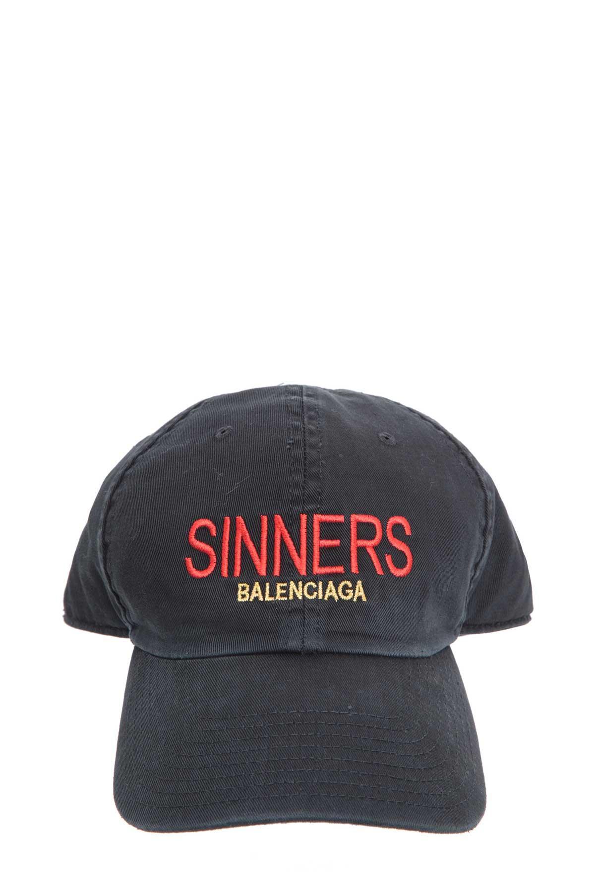 e8d45291 Balenciaga Sinners Embroidered Cotton-Twill Baseball Cap - Black - One Siz