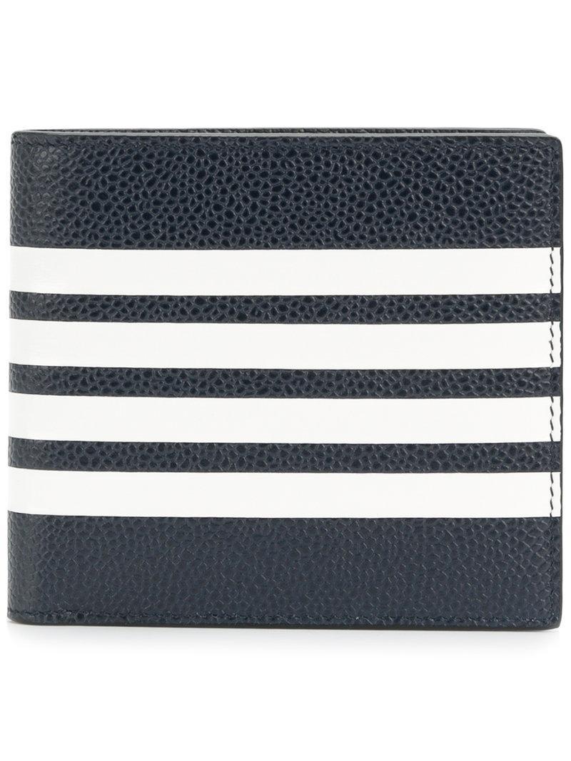 32e51558db5 Thom Browne Billfold 4 Bar Stripe In Blue | ModeSens