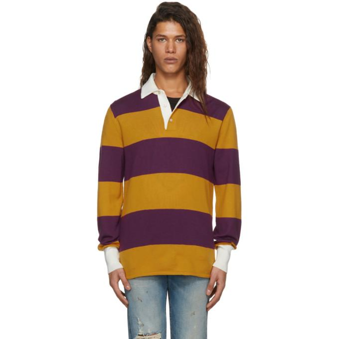 91df8da676e Gucci Striped Polo With Thanatos Embroidery In 5203 Multi | ModeSens