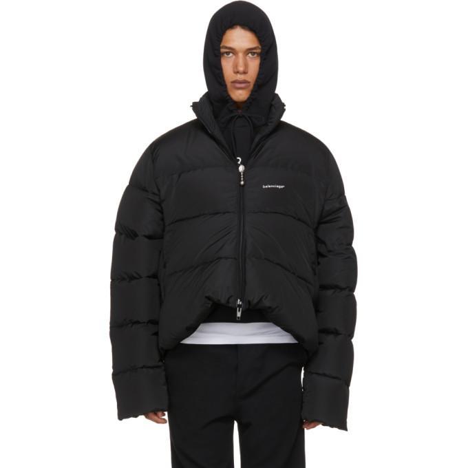 5817616dfb4e Balenciaga C Curve Trapeze Puffer Jacket In Black