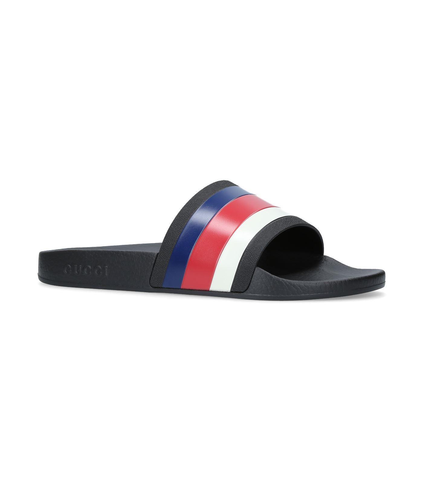 f2a0c1b8ab90 Gucci Pursuit  72 Rubber Slide Sandal In 1071 Black Navy