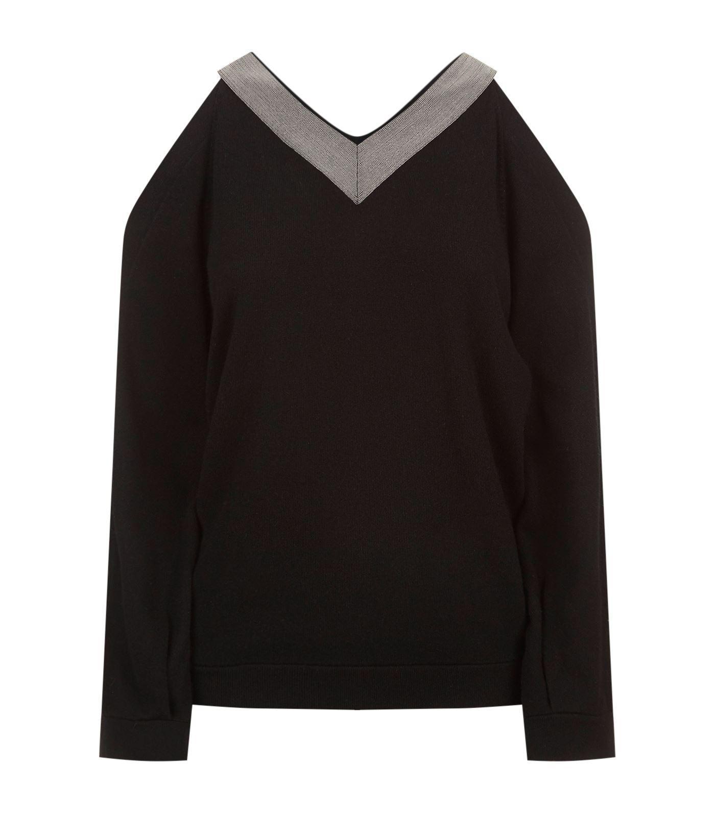 Brunello Cucinelli V-neck Cashmere Sweater In Black