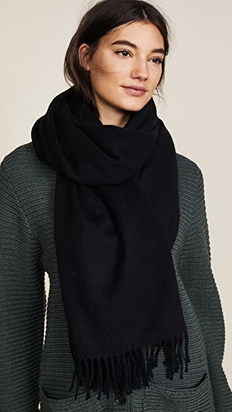 Acne Studios Canada Cashmere Narrow Scarf In Black