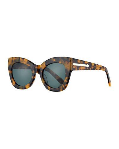 74d70cf3414 Karen Walker Northern Lights V2 51Mm Cat Eye Sunglasses - Crazy Tortoise