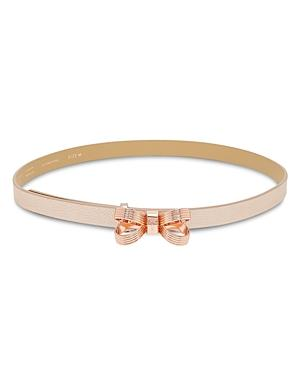 4a6495edf Ted Baker Bowdi Looped Bow Leather Belt In Light Pink Rose Gold ...