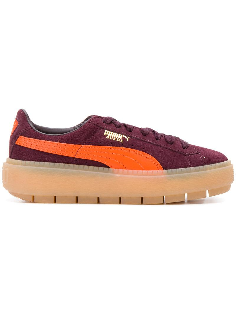 60d98d70e5a Puma Women s Suede Platform Rugged Casual Sneakers From Finish Line In Pink