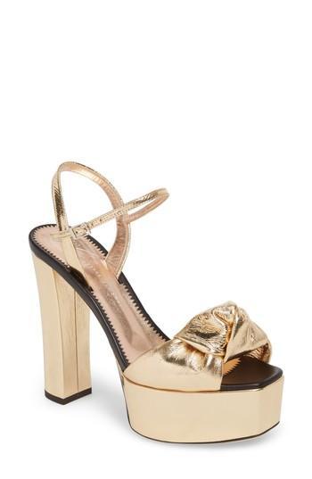 b75e0eeaf1ca Giuseppe Zanotti Knotted Metallic Platform Sandals