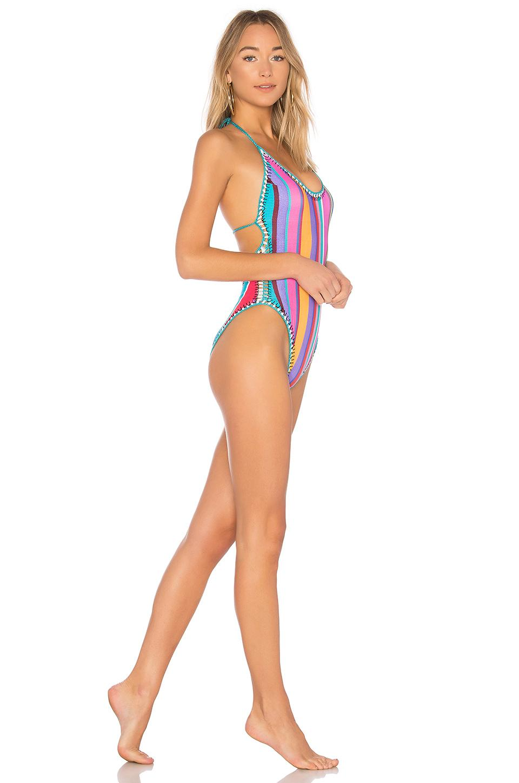 cb1466fafe Nanette Lepore Sayulita Serape Goddess Striped One-Piece Swimsuit ...