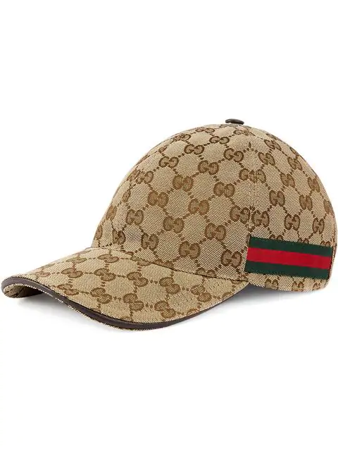 Gucci Beige Original Gg Canvas Baseball Hat With Web In 9791 Beige