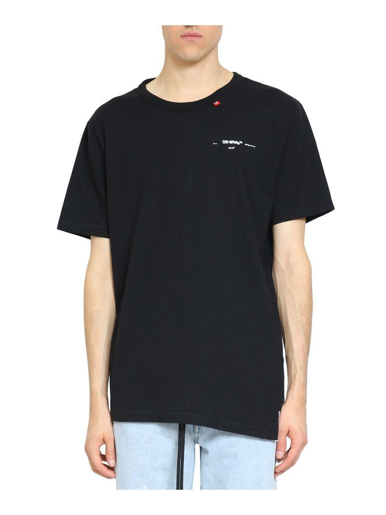 4951f0587a Off-White Off White C O Virgil Abloh Men s Black Script Spliced Tee ...