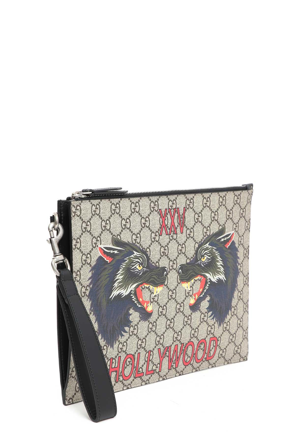 9e3e6f7aaa POUCH WITH WOLF PRINT