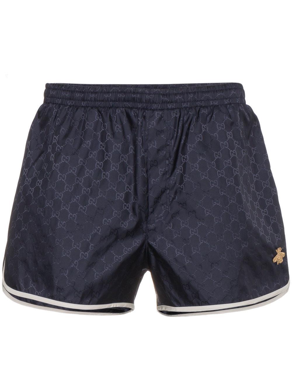 bca98d7dc8 Gucci Gg Nylon Swim Short Trunks In Blue | ModeSens