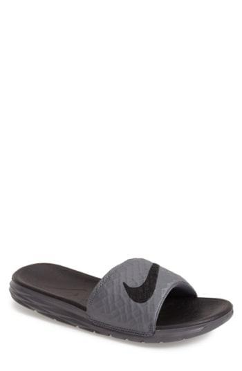 67db839eb926 Nike  Benassi Solarsoft 2  Slide Sandal In Dark Grey  Black