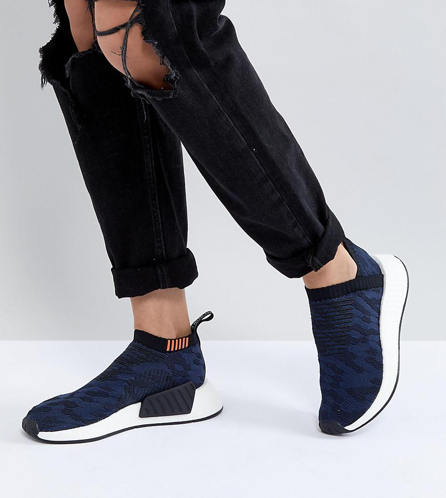 92353519fa536 Adidas Originals Nmd Cs2 Shadow Knit Sneakers In Navy - Navy In Cnf ...