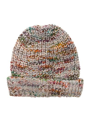 5f989e9a9ce82 Acne Studios Zefir Heathered Knit Beanie In White Mix