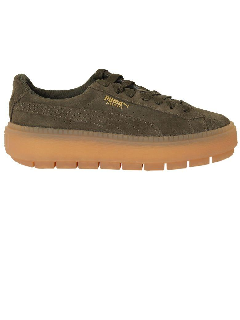 a4381f48444 Puma Women s Suede Platform Rugged Casual Sneakers From Finish Line In Green