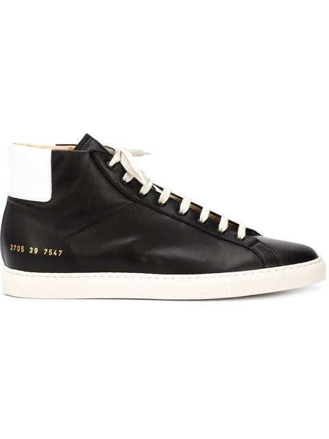 Common Projects Tournament Leather High-top Sneakers In White