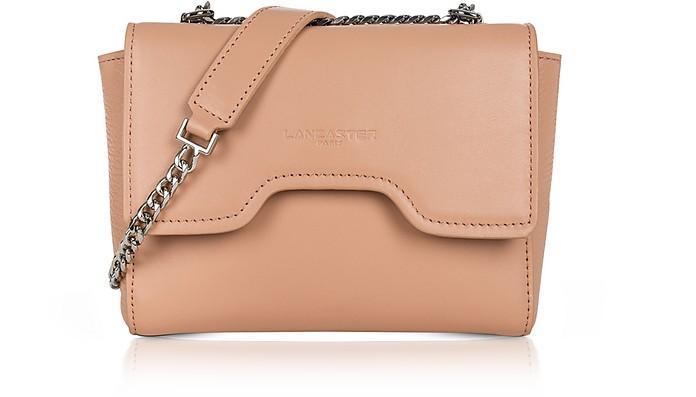 Lancaster Irene Smooth Leather Shoulder Bag In Nude