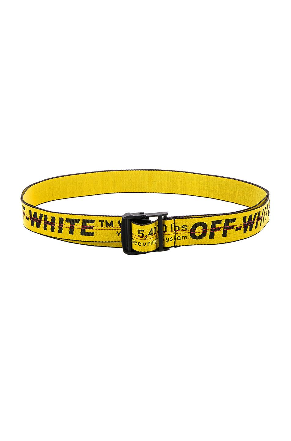 Off-White Classic Industrial Belt In Yellow Polyamide