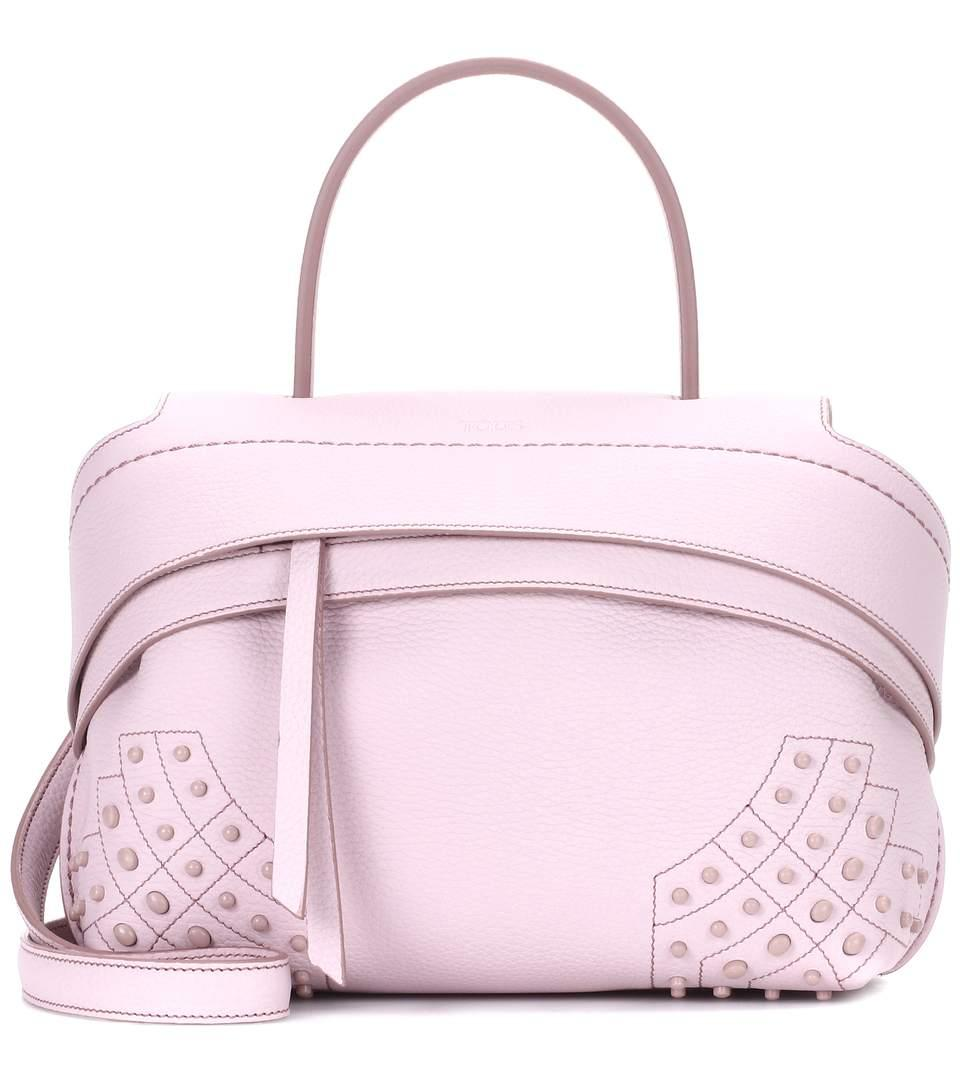 86d29b324a Tod's Wave Mini Studded Textured-Leather Tote In Pink | ModeSens