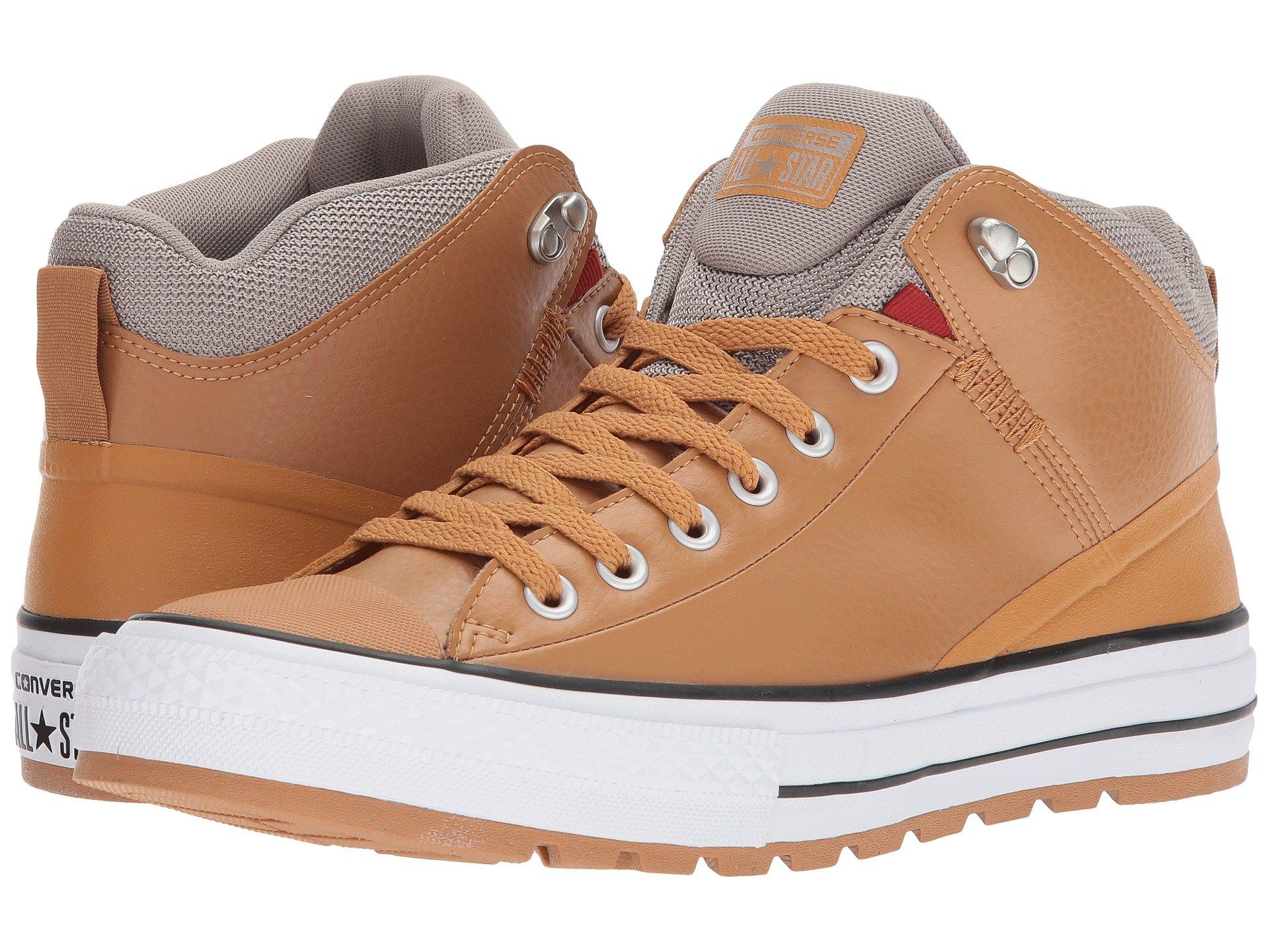 5ceccd757fc9 Converse Men s Chuck Taylor All Star Street Mid Leather Casual Sneakerboots  From Finish Line In Raw