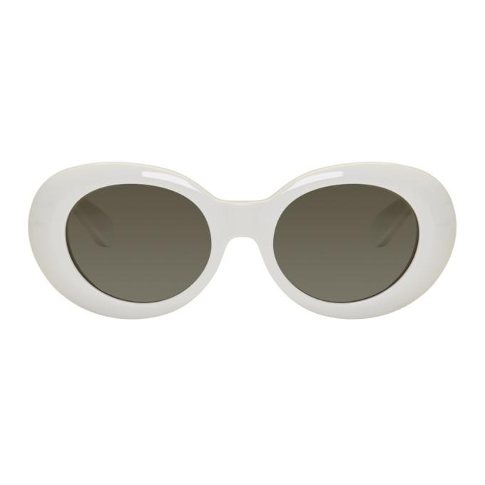 Acne Studios Opening Ceremony Mustang Sunglasses In Offwht/Blk