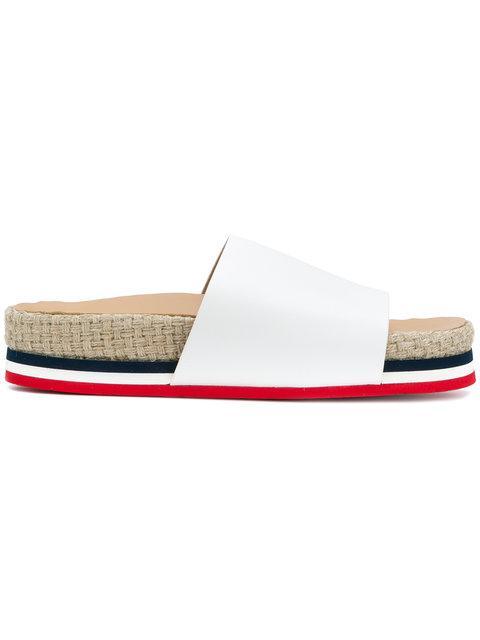 Moncler Evelyne Slipper Sandals In White