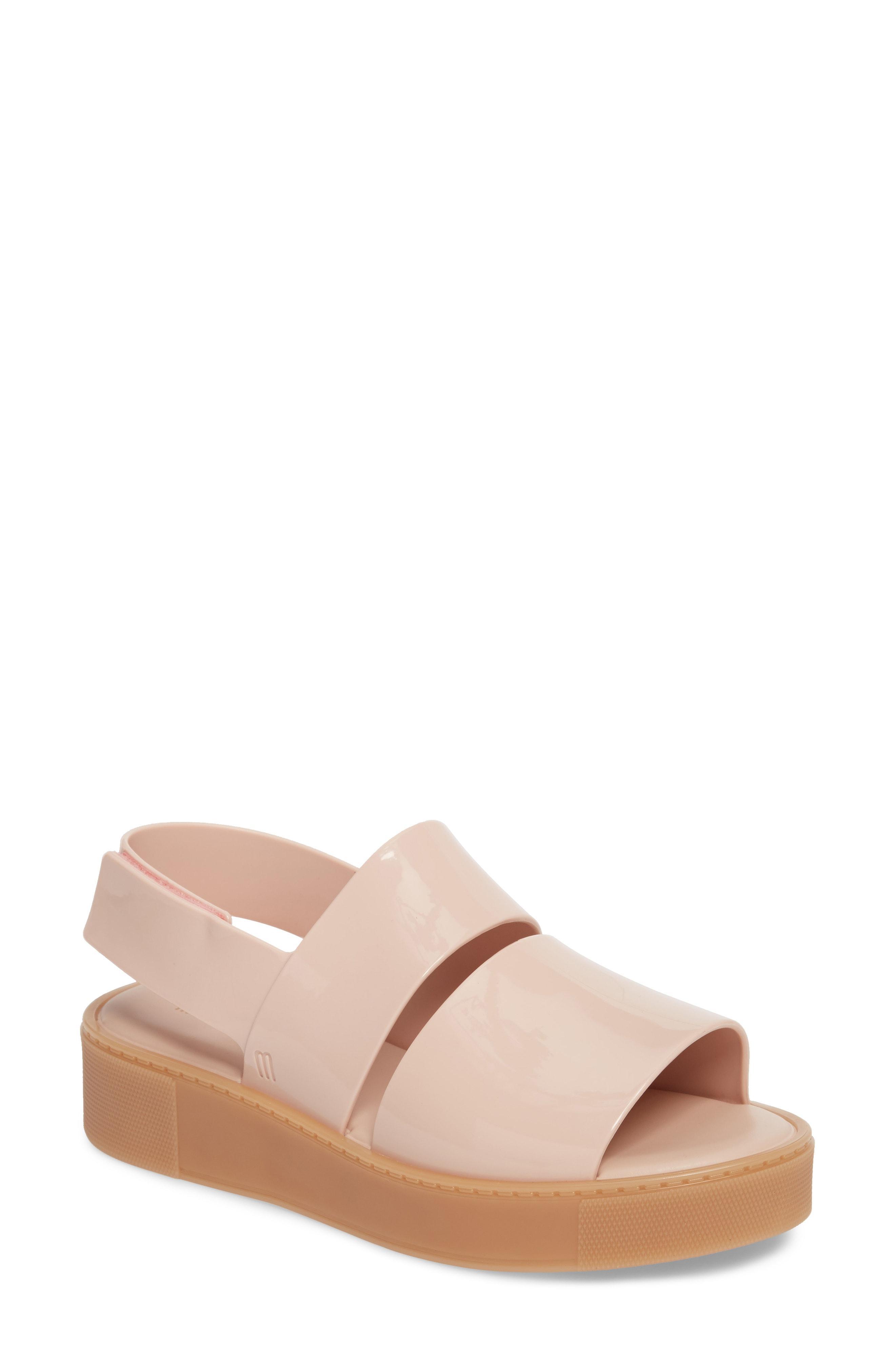 9ab24251042e Melissa Soho Chunky Slingback Sandals In Pink Beige