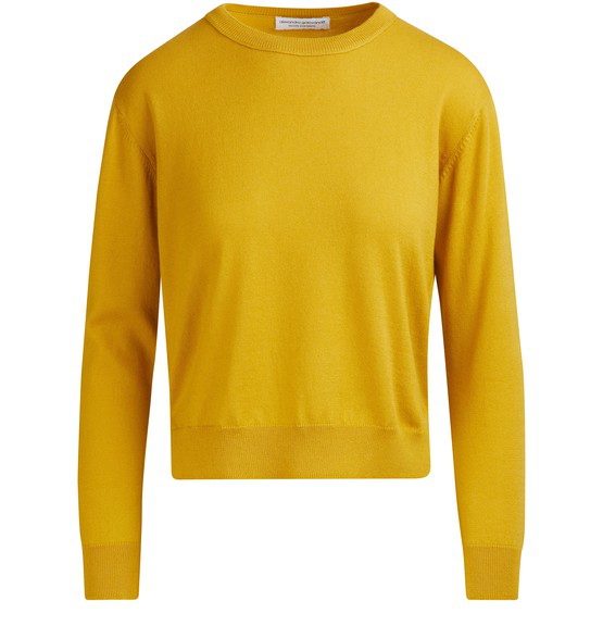 Alexandra Golovanoff FranÇoise Long Sleeved Pullover In Yellow