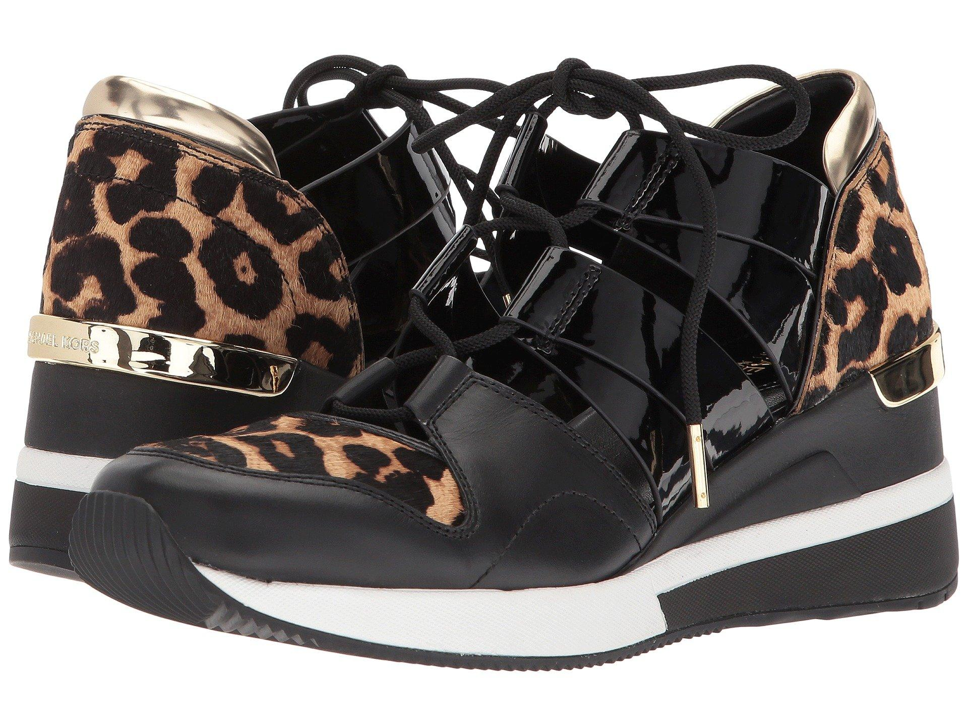 0c277c74d58e Michael Michael Kors Beckett Trainer, Natural/Black Cheetah Haircalf/Patent  Pu/Vachetta