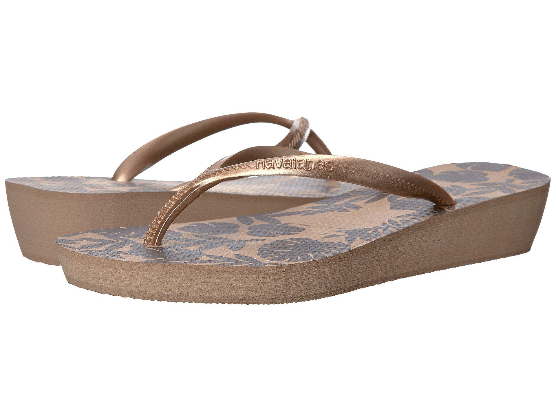 3b5c974bf783d7 Havaianas High Light Ii Flip Flops In Sand Grey Rose Gold